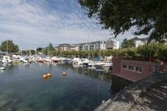 Vevey La Tour marina, Switzerland stock image