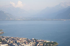 Vevey by Lake Geneva in the Summer Stock Images