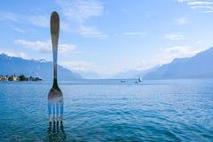 Vevey, Svizzera Fotografie Stock Libere da Diritti