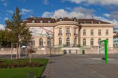 VEVEY, SVIZZERA - 29 OTTOBRE 2015: Paesaggio dell'argine in Vevey, Cantone di Vaud Fotografia Stock