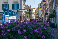 Swiss village in the canton of Vaud stock image