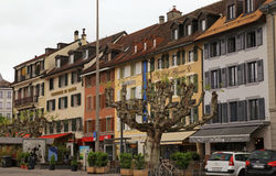 Vevey, Zwitserland. Royalty-vrije Stock Foto's
