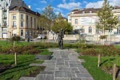 VEVEY, ZWITSERLAND - 29 OKTOBER 2015: Charlie Chaplin-monument in stad van Vevey, Zwitserland Stock Afbeeldingen