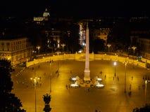 Vew ночи Piazzo Popolo Стоковое Изображение