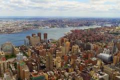 Vew aéreo de New York City, los E.E.U.U. Imágenes de archivo libres de regalías