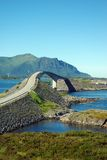 Vew at Atlantic road bridge, Norway Stock Images