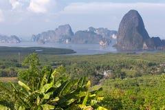 Vew av den Phang Nga fjärden Royaltyfria Bilder