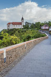 Vew av den Tihany abbotskloster på sjön Balaton i Ungern Royaltyfri Fotografi