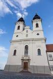 Vew av den Tihany abbotskloster på sjön Balaton i Ungern Fotografering för Bildbyråer