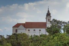 Vew av den Tihany abbotskloster på sjön Balaton i Ungern Royaltyfri Bild