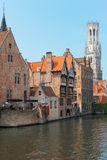 Vew on Belfort in Bruges Royalty Free Stock Photography