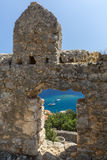 Vew from castle of Kalekoy, Antalya. Turkey Royalty Free Stock Photos