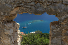 Vew from castle of Kalekoy, Antalya. Turkey Royalty Free Stock Photography