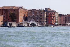 Vew of the city, coastal boulevards, water transport, Venice, Italy Stock Images