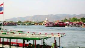 vew da cidade do kanchanaburi, Tailândia filme