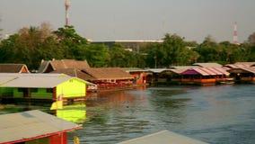 vew da cidade do kanchanaburi, Tailândia video estoque