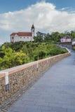 Vew de la abadía de Tihany en el lago Balatón en Hungría Fotografía de archivo libre de regalías