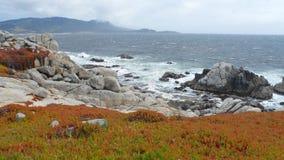 Vew de la costa de Monterey fotografía de archivo