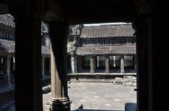 Vew della parte interna di Angkor Wat Fotografia Stock