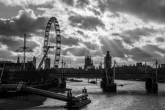 Vew des Southbank in London stockfotos