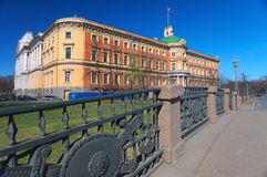 Vew en el palacio del ingeniero, StPetersburg, Rusia Imagenes de archivo