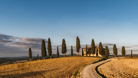 Vew of the hilly landscape in Tuscany. Siena, Italy - November 1, 2016: Vew of the hilly landscape in Tuscany Stock Photo
