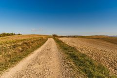 Vew of the hilly landscape in Tuscany. View of the hilly landscape in Tuscany, Italy Royalty Free Stock Photos
