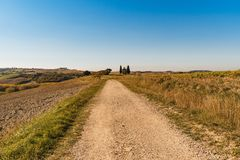 Vew of the hilly landscape in Tuscany. View of the hilly landscape in Tuscany, Italy Stock Image