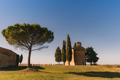 Vew of the hilly landscape in Tuscany. Royalty Free Stock Photos