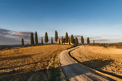 Vew of the hilly landscape in Tuscany. Royalty Free Stock Photography