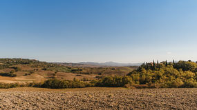 Vew of the hilly landscape in Tuscany. Stock Photography