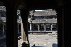 Vew of the inside of Angkor Wat Stock Photography