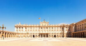 Vew of Madrid. Facade of Royal Palace Stock Photos
