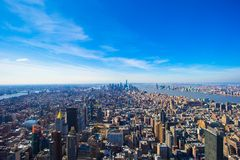 Vew of Manhattan from the Empire State Building, Stock Images