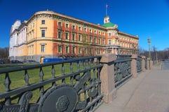 Vew op Ingenieurspaleis, St. Petersburg, Rusland Stock Afbeeldingen