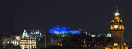 Vew panoramico sul castello di Edinburgh Immagini Stock