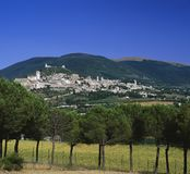 ASSISI, UMBRIA ITALY. Vew to Basillica of St Francis , Assisi Umbria Italy stock images