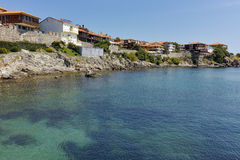 Vew to old town and Black sea in Sozopol, Burgas Region, Bulgaria Royalty Free Stock Photos