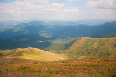Vew from the top of the mountain Hoverla Royalty Free Stock Image