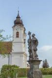 Vew von Tihany-Abtei bei Plattensee in Ungarn Stockfotos
