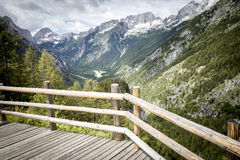 Vewpoint near Vrsic pass in Julian Alps Stock Photography