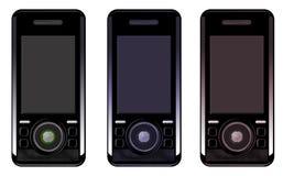 vexel трио мобильного телефона Стоковые Фотографии RF