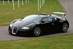 Veyron nero di bugatti Fotografie Stock Libere da Diritti