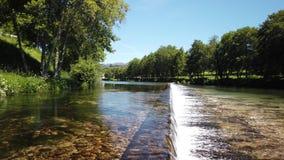 Vez flod i Portugal stock video