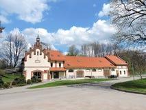 Vezaiciai庄园,立陶宛 库存照片