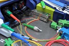 Vezel optische kabels, schoonmakende en testende uitrusting Royalty-vrije Stock Afbeelding