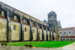 The Vezelay Abbey. View of the Vezelay Abbey in Burgundy, France Royalty Free Stock Photography