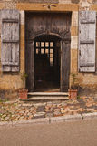 Vezelay doorway Stock Photos