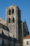 Vezelay, France. Romanesque cathedral of St. Mary Magdalene in Vezelay Abbey in Burgundy, France. The cathedral and the Vezelay hill are enrolled on the UNESCO Royalty Free Stock Image