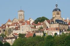 Vezelay Frankrike Arkivfoto